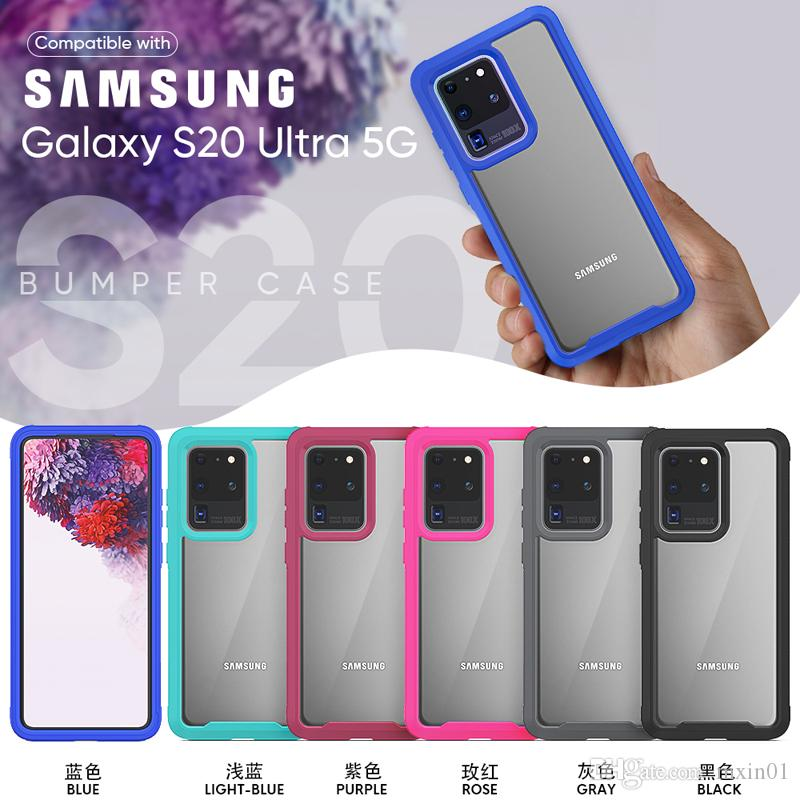 Clear 360 Full Body 2 in 1 Hybrid Armor Impact Tough Shockproof Case For iPhone 11 Pro XR XS MAX X 8 7 6 Samsung S10 5G Plus S10E S20 Ultra