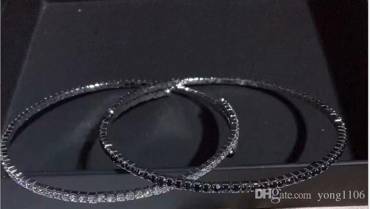 Tendencia de moda europea y americana accesorios de personalidad nuevo taladro completo perla abierta Collar de cuello corto femenino sexy cadena de clavícula judio