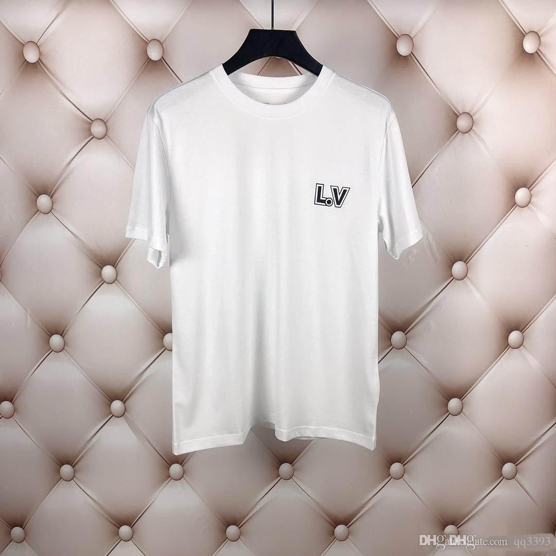 Diseño de moda de lujo camisetas para los hombres camisetas 2019 de verano para hombre Ropa de manga corta ocasional de la camisa de los hombres Tee Shirts hyg