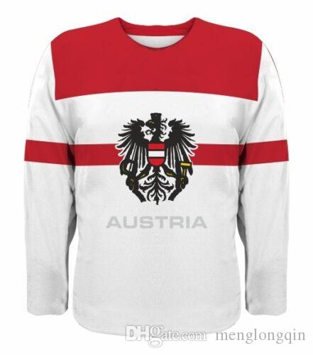 The new 2019 team Austrian hockey jersey Stitched Customize any number and name Jerseys