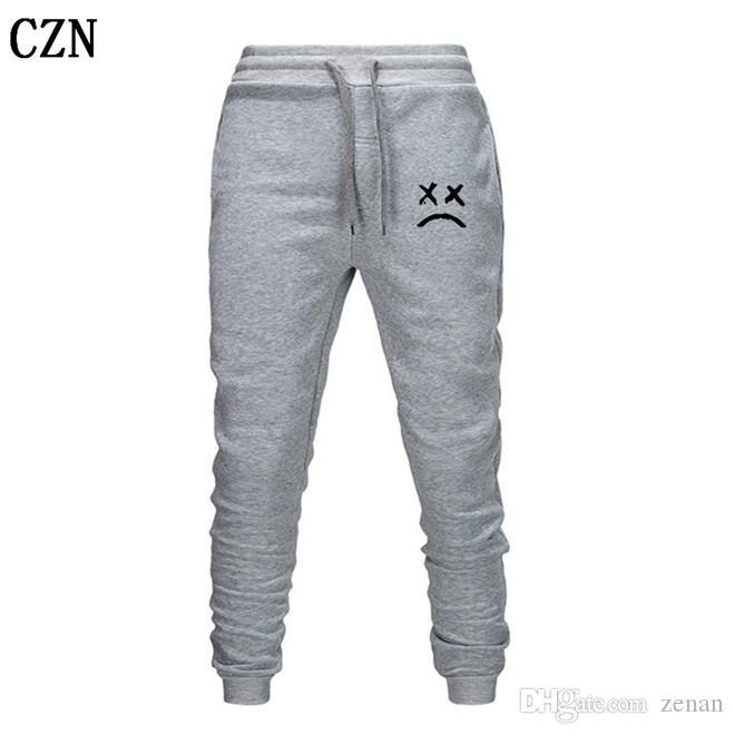 2020 Lil pío Pantalones Hip Hop Pantalones Loose pantalón Hombres Mujeres Pantalones Casual caliente del basculador Negro gris del basculador EL-4