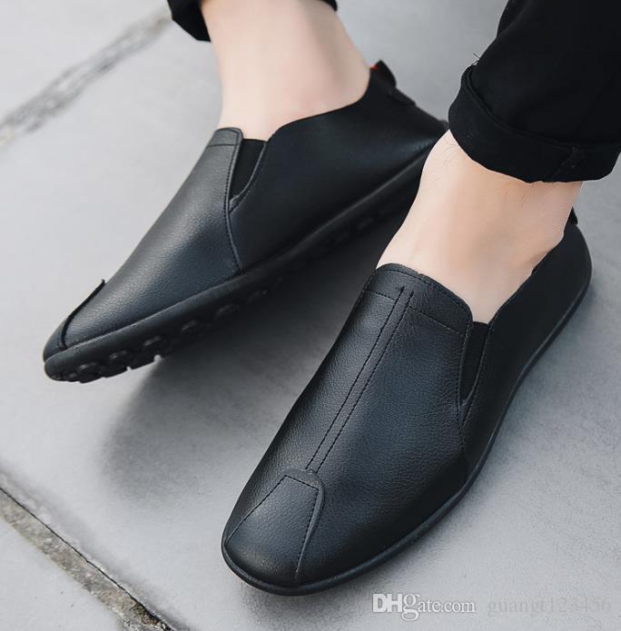 2019 nouvelles chaussures bonnet printemps / été pour les hommes en cuir décontracté slacker vieux chaussures en tissu de Beijing version coréenne de la mode des chaussures pour hommes # 003
