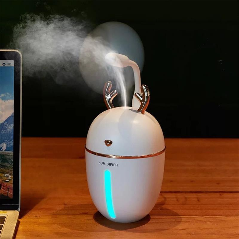 450ml Essential Oil Car Diffuser USB Air Humidifier Aromatherapy Ultrasonic Mist LED NightLight Humidifiers Fogger Christmas Gift