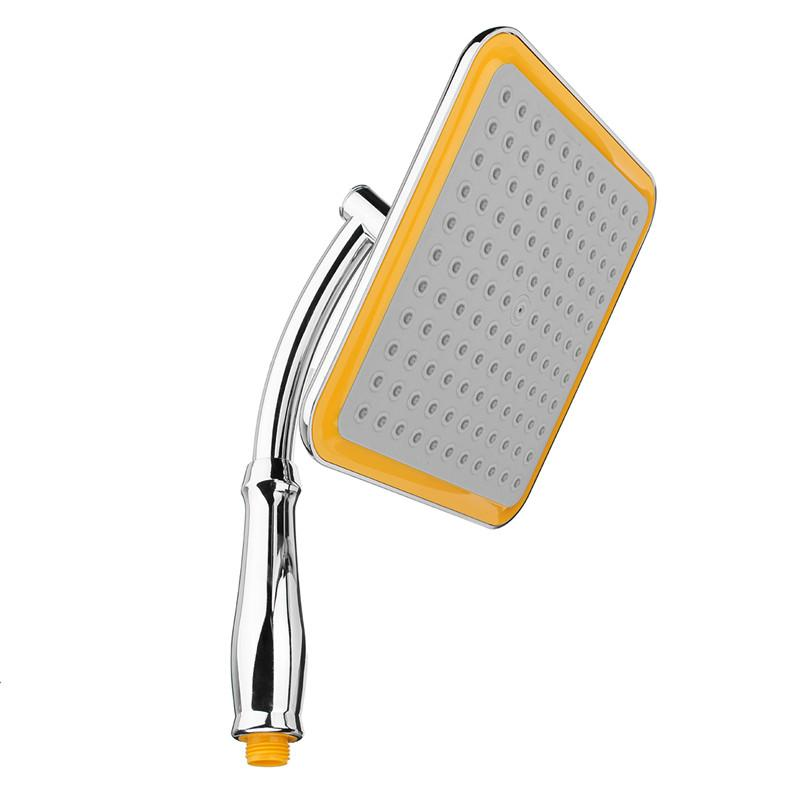 Ángulo de ducha cuadrado de 9 pulgadas Cuarto de baño Gran lluvia ultrafina Presurizar Montaje en pared Cabezal de ducha Rociador de flujo de ahorro de agua