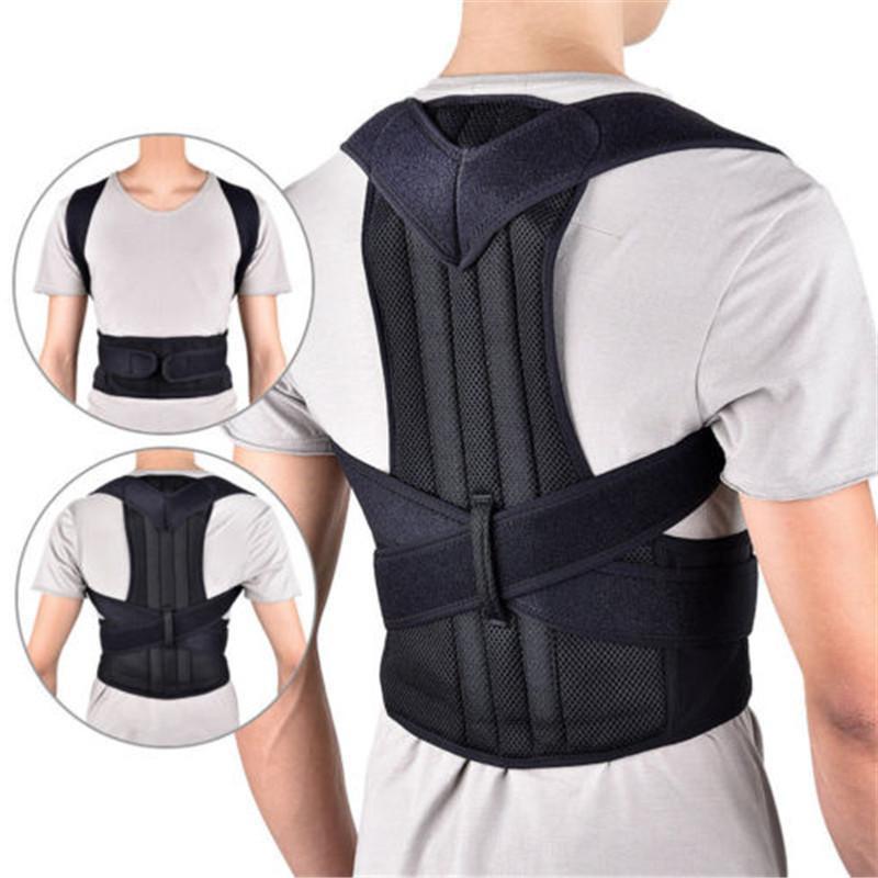 Lombare posteriore del correttore di posizione del gancio spalla spina dorsale della cinghia di sostegno regolabile corsetto vita Trainer postura correzione Belt
