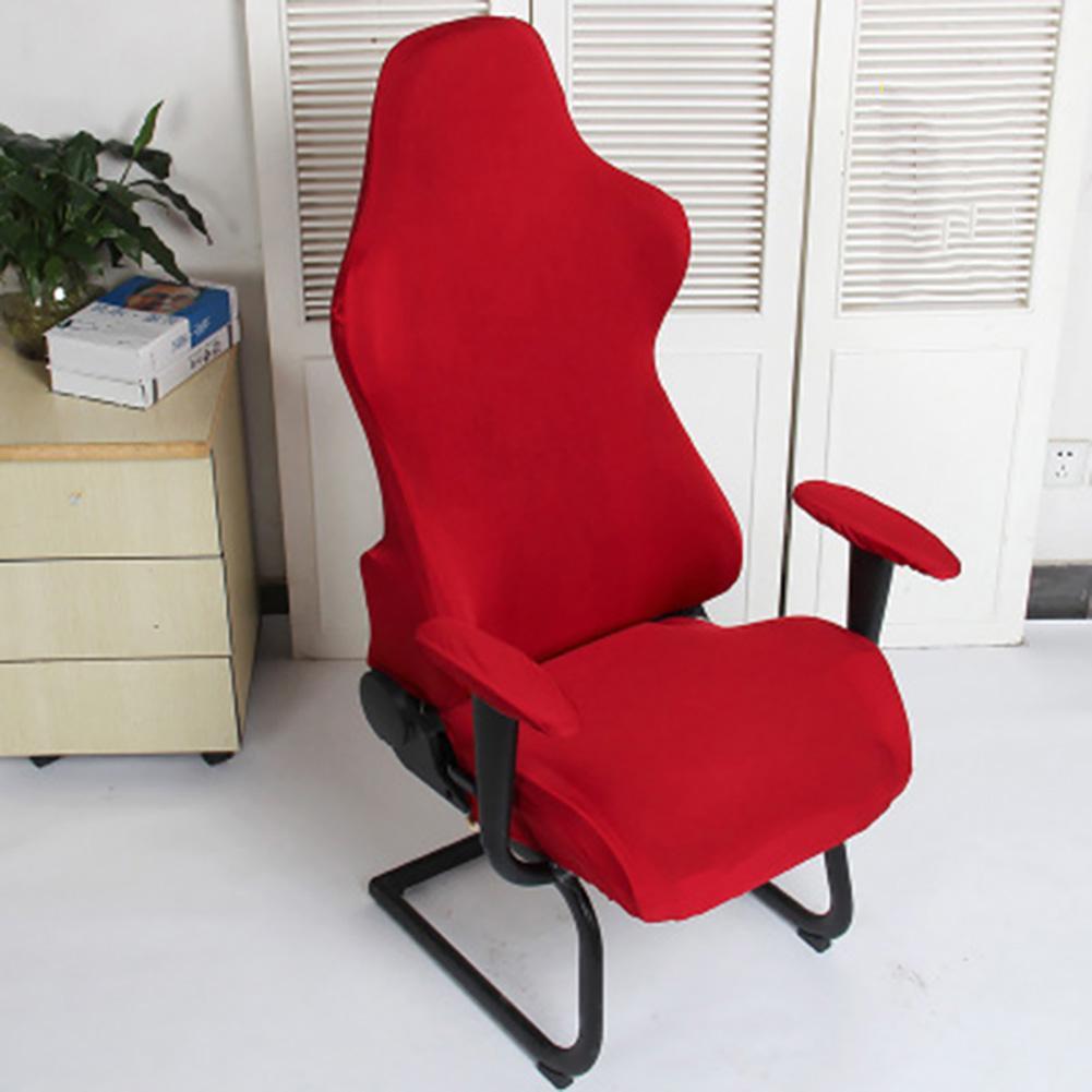 Chaise déhoussable Spandex Polyester Bureau Décoration élastique souple Fauteuils Gaming Protecteur Lavable Sièges d'ordinateur