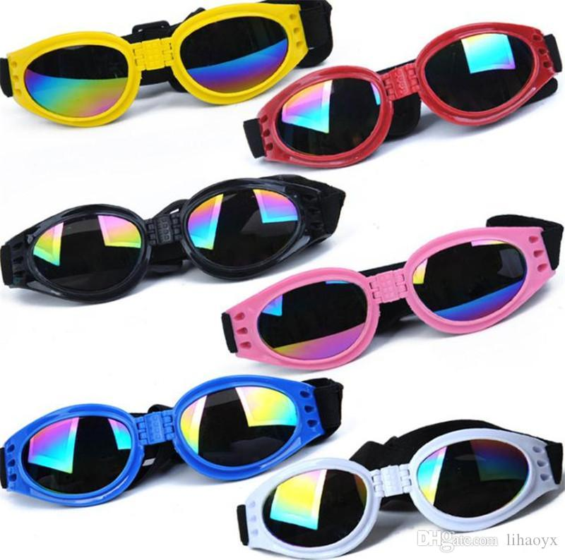 Dog Glasses Fashion Foldable Sunglasses Medium Large Dog Glasses Big Pet Waterproof Eyewear Protection Goggles UV Sunglasses dc570