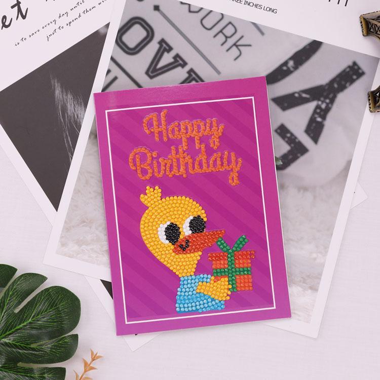 DIY Diamond Painting Greeting Card Special Shaped Diamond Embroidery Christmas Cartoon Cards Postcards Birthday Xmas Gift