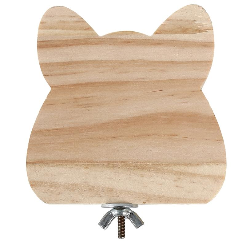 New Rabbit Totoro Hamster Summer Toy Double-Sided Wooden Pet Springboard Rabbit Small Pet With Cooling Mat Pad Cage Toys