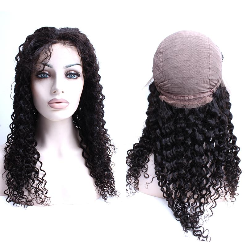 Bellahair Curly Wave Lace Front Wig Brazilian Hair Deep Curly Wave Mänskliga Hår Paryker För Black Women Julienchina