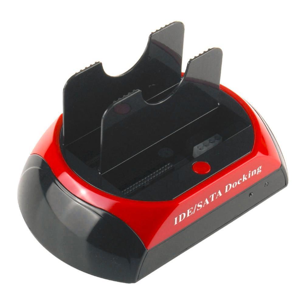 FREESHIPPING مريحة 2.5 بوصة 3.5 بوصة IDE SATA USB 2.0 محرك القرص المزدوج الأقراص الصلبة محطة الإرساء دعم قاعدة القرص الصلب يمكن