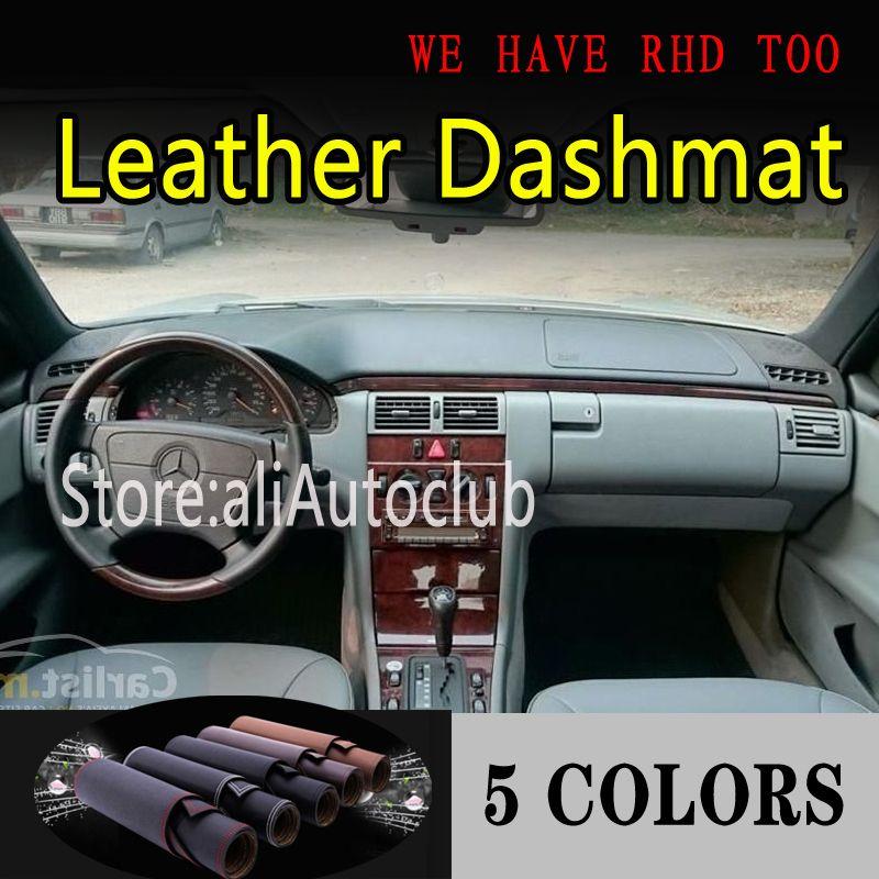 Cuir Dashmat Dashboard Couverture Pad Dash Tapis Ombrelle voiture Tapis pour - E Classw220 E280 E300 E400 1996-2003