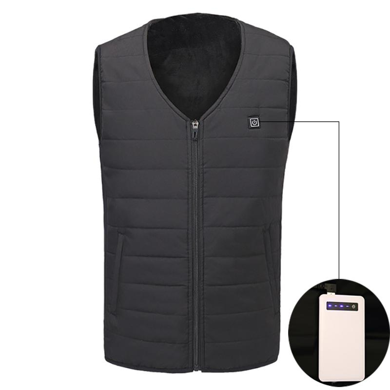 2018 Winter Heated Vest Men Women Electric Heated Jacket Thermal Clothes Fishing Hunting Fast Heat Waistcoat Gilet Chauffant