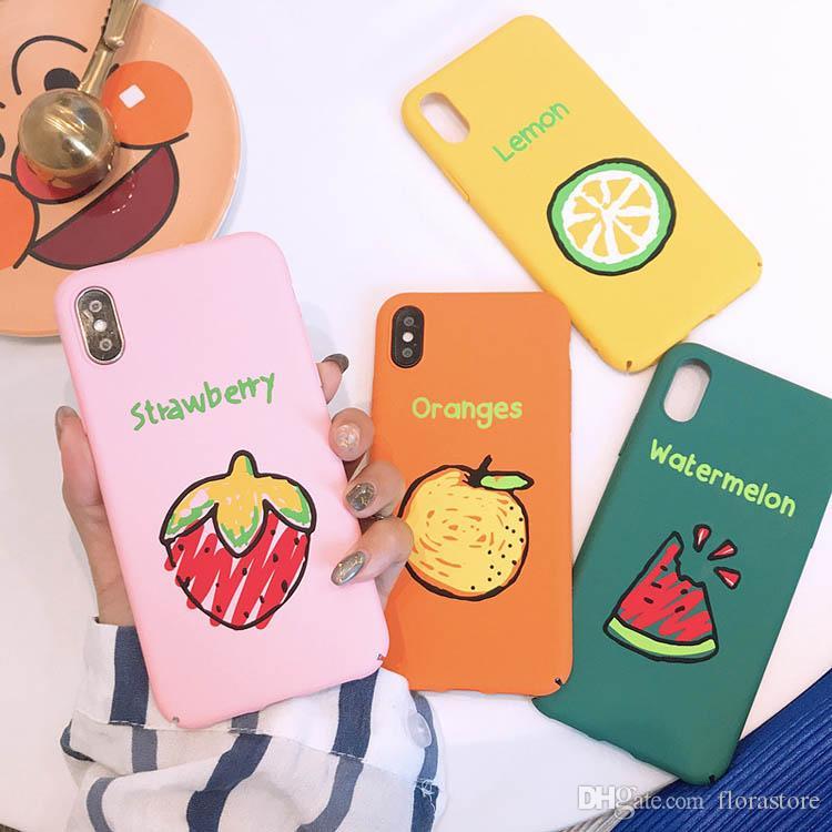 Per iPhone 7 8plus XR X MAX frutta fresca PC Phone fodera estiva Frutta cellulare Custodia di protezione completa di protezione di goccia Telefono Shell