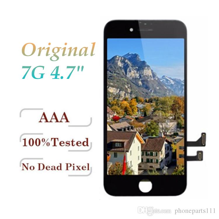 100% Original LCD For iPhone 7 Grade A +++ Display Touch Digitizer Complete Screen with Frame Full Assembly Replacement