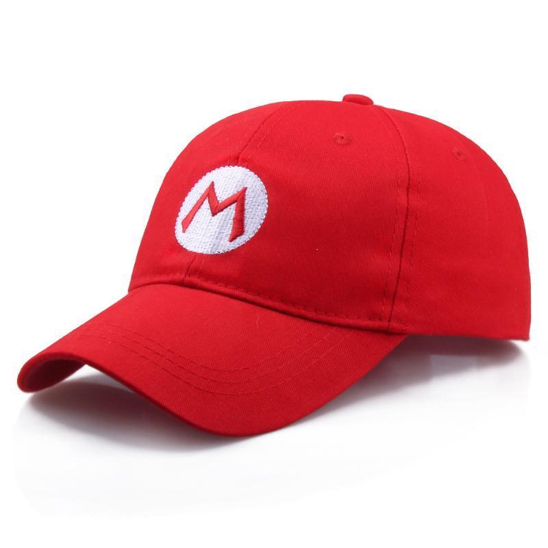 Super Mario Bros Baseballmützen Für Frauen Männer Hut Einstellbare Erwachsene Kappe Rot M Grün L Cosplay Kappe 2019 Dropshipping