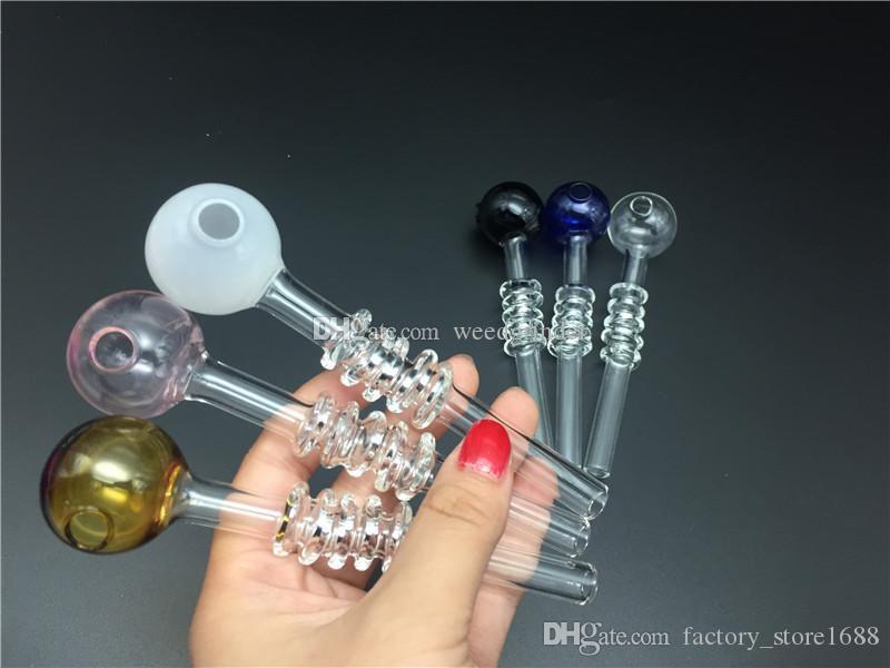 14 centimetri di più nuovo disegno di vetro colorato unghie olio tubo di spessore bruciatore a olio di vetro tubo di fumo tabacco da pipa mano inebriante