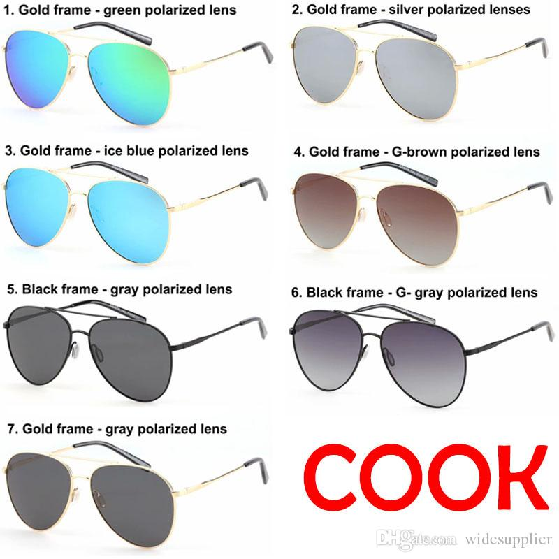 Europa e nos estados unidos populares óculos de sol modelos de vôo tr90 óculos polarizados condução óculos de surf óculos de sol 7 cores top