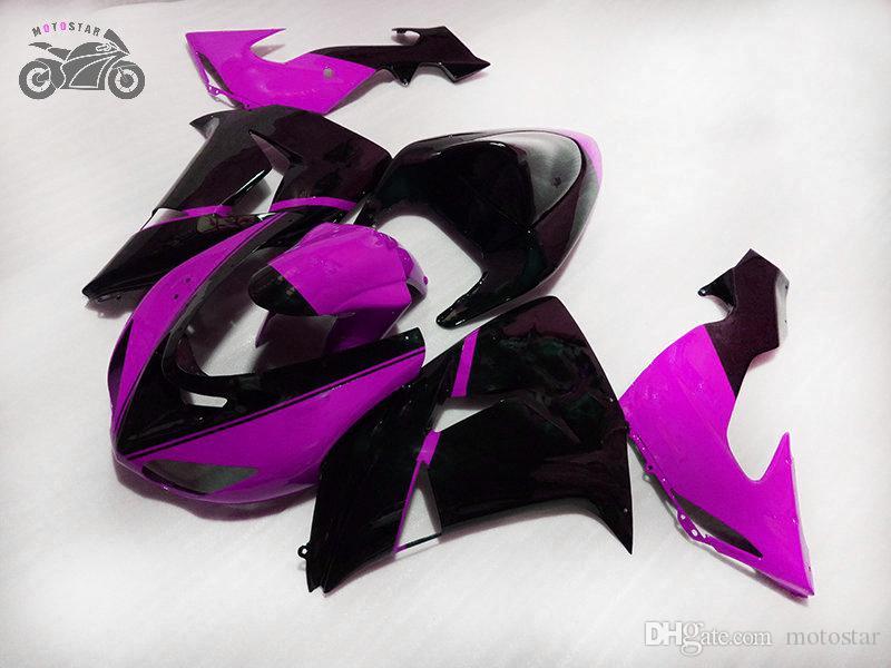 Pièces de chevet du marché secondaire chinois pour Kawasaki Ninja ZX-10R 06 07 Moto Purple Black Carénings Kits Corps ZX10R 2006 ZX 10R 2007