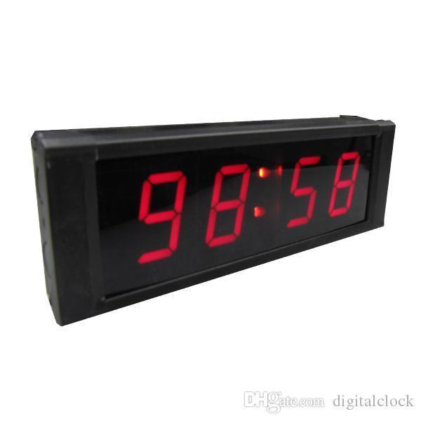 [Ganxin] 싼 HOT의 판매 타이머를 가진지도 한 디지털 시계 원격 1 인치 7 세그먼트 레드 미니 실내 디스플레이 벽 시계 무선까지의 카운트 다운
