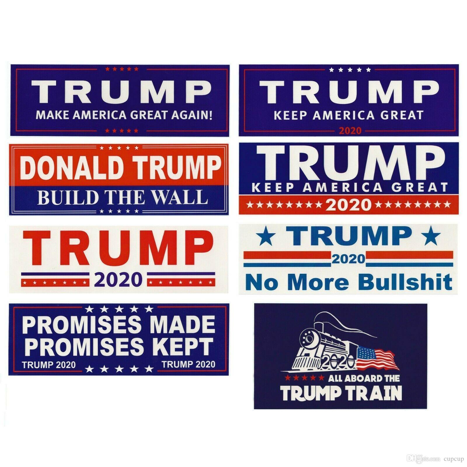 Donald Trump 2020 adesivos de carro adesivos mantenha tornar a América Grande decalque para itens Car Styling Veículo Paster Novidade Trump Adesivos 4728