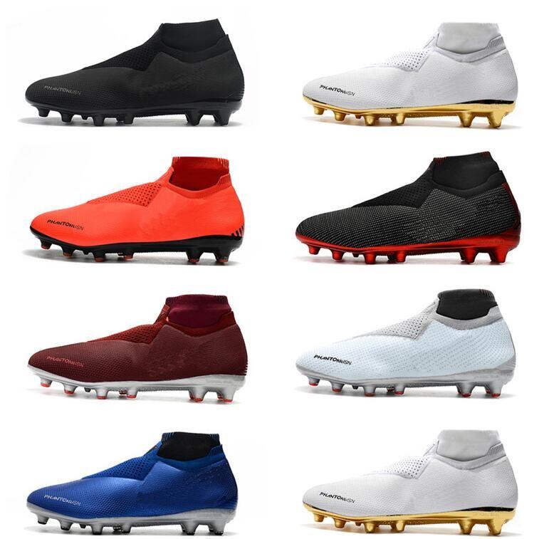 2019 New Phantom VSN Shadow Elite DF AG Men's Soccer Shoes Neymar Ronaldo Outdoor Soccer Cleats World Cup Men Football Shoes Football Boots