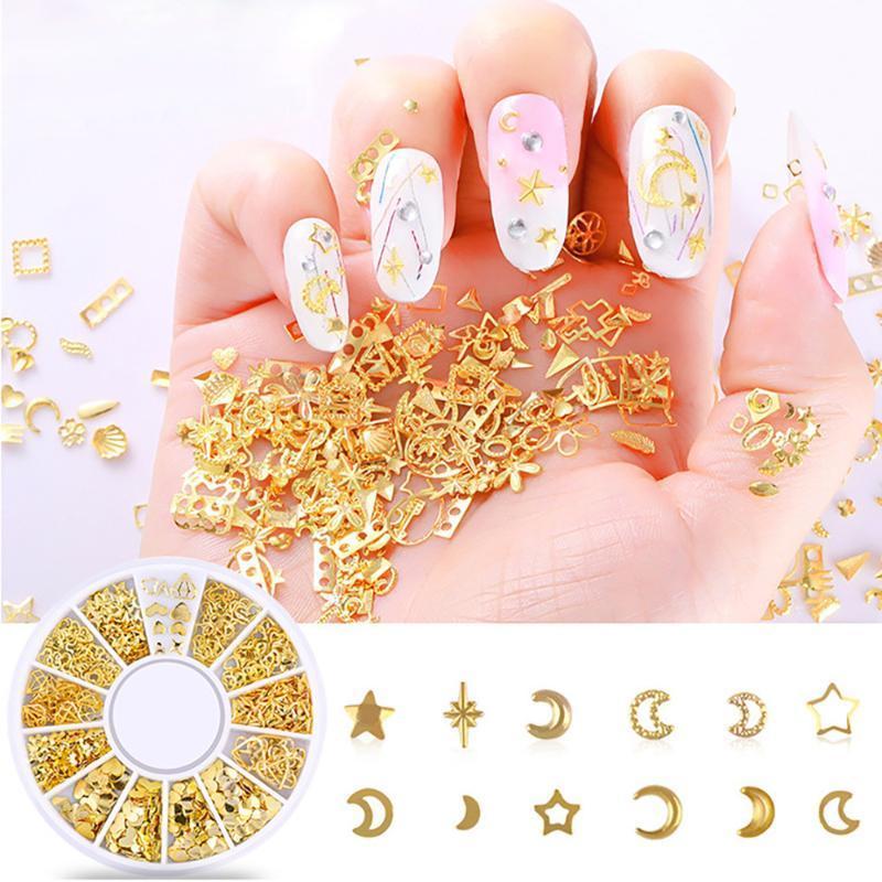 Marine summer marine metal alloy shell starfish 3D hollow star friends sparkling manicure decoration accessories