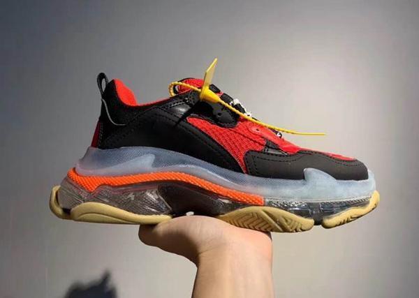 2019 17FW Кристалл Bottom Зеленый Дизайнерская обувь папа платформы Тройной кроссовки для Mens женщин Vintage Kanye Старый дед тренер C20 C25