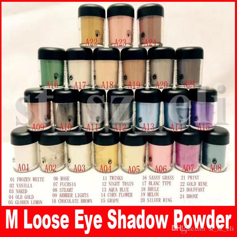 M Eye Makeup 7.5g pigment Eyeshadow Mineralize Eye shadow With English Colors Name 24 Colors