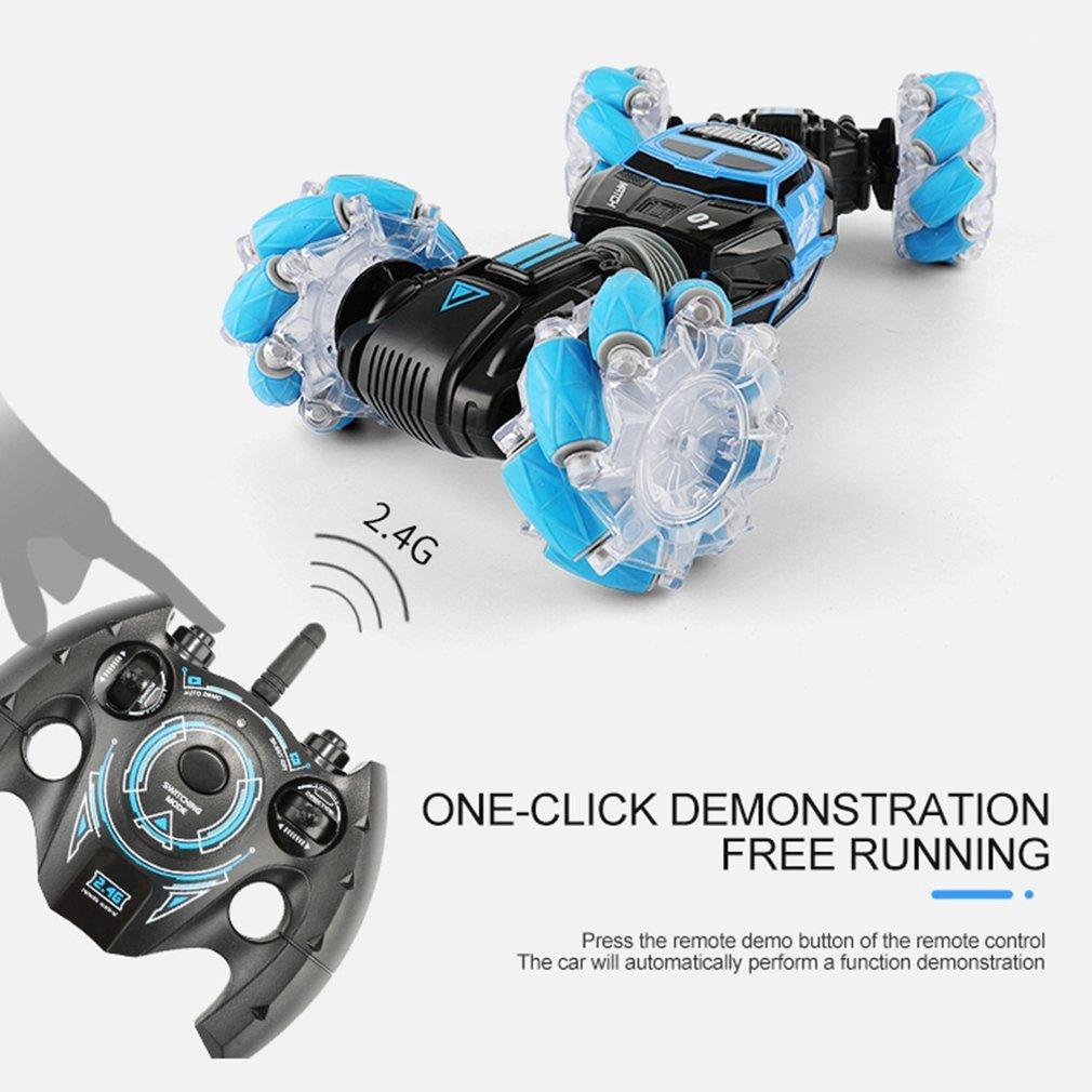 UD2196A 01:16 lateral doble que tuerce la deriva de conducción de vehículos de juguete de control remoto RC Stunt regalo de coche para niños Y200414