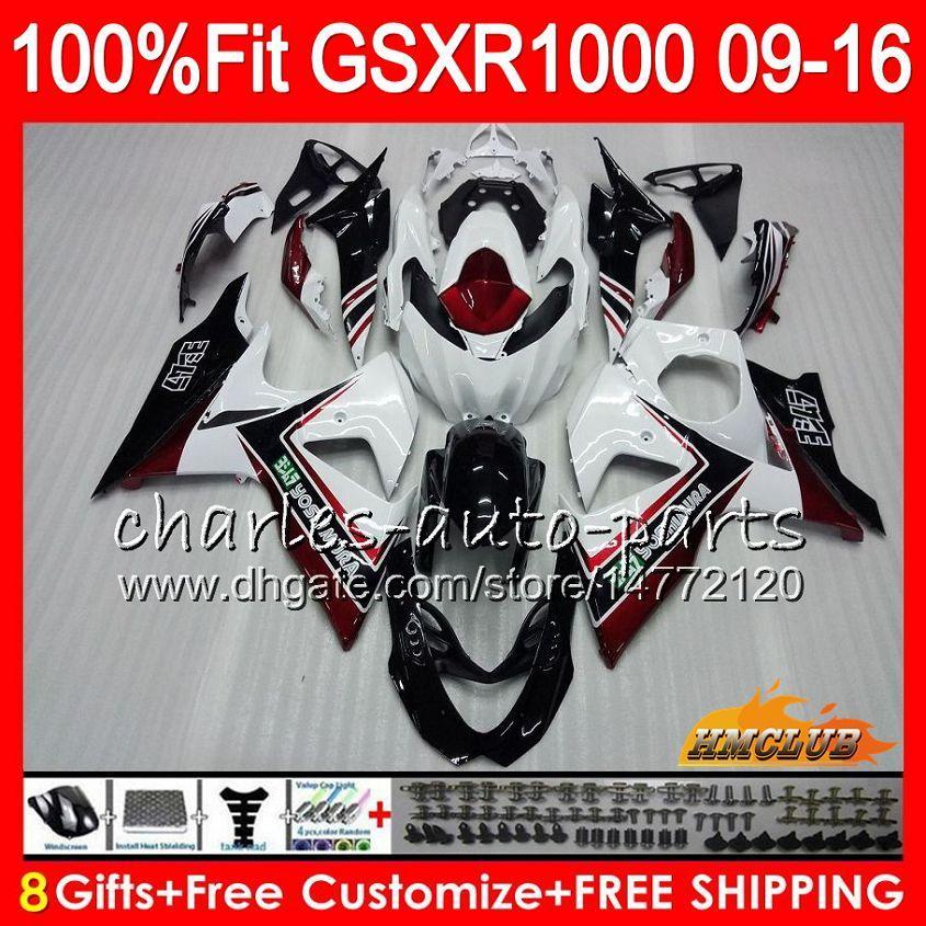 Suzuki GSXR1000 2009 2010 2011 2012 2015 2016 2016 16hc.15 GSXR-1000 K9 와인 레드 주식 GSXR 1000 09 10 11 12 13 15 16 페어링