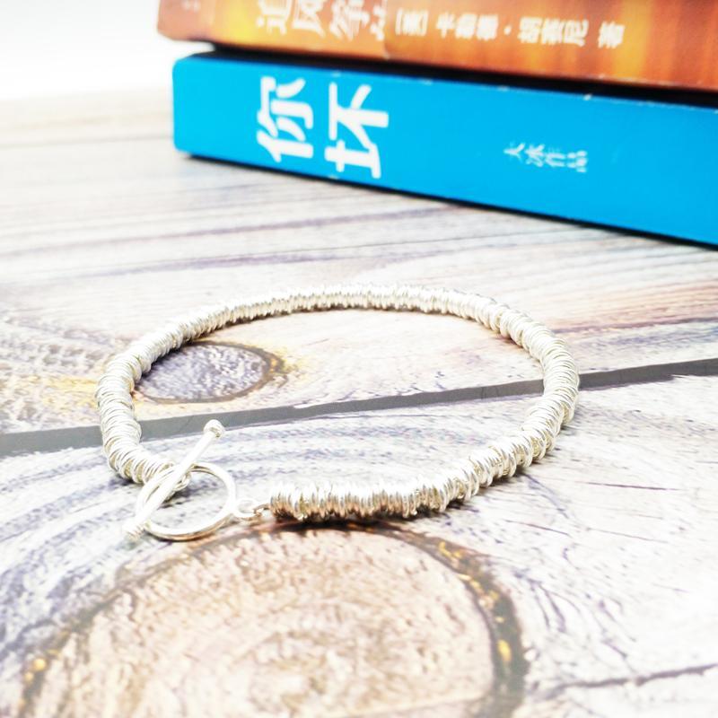 Venta al por mayor Moda nuevo diseño joyería 925 pulsera de plata esterlina hombres hechos a mano amantes pulseras 20 unids / lote + envío gratis