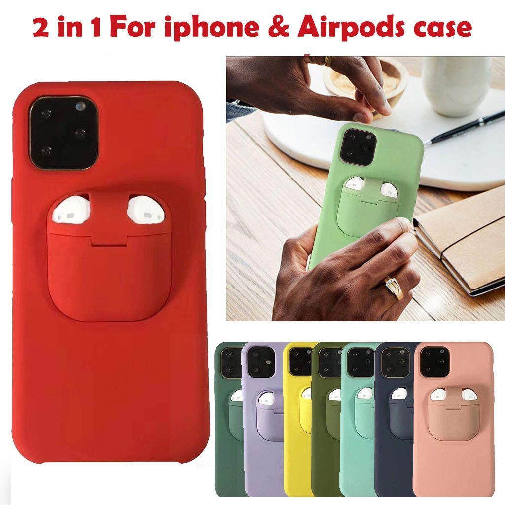 Für Apple iPhones 11 Pro Max-Fall für Airpods iphone SE 2020 Xs Max Xr X 10 8 7 Plus-harte Abdeckung für AirPods Halter-Silikon-Kasten
