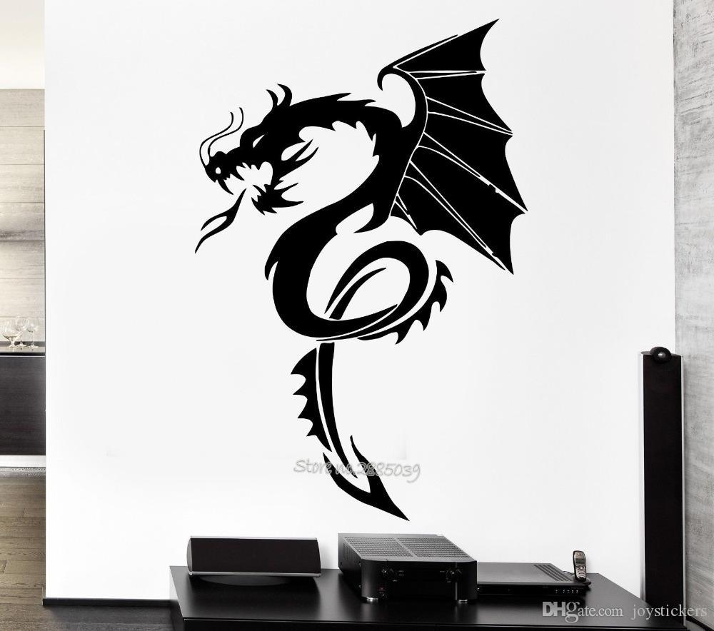 New Arrivals Dragon Myth Wall Decal Movie Fantasy Monster Cool Boy Rooms Home Interior Decor Art Mural Adesivo De Parede