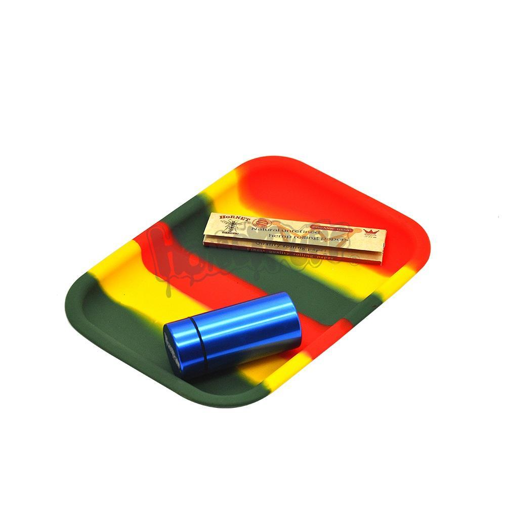 Non-Stick Container Rauchen Silikon-Behälter Des Rollen Hitzebeständige Platz Tabak Zigarette Handroller Drehpapier Smoking Pipe Zubehör