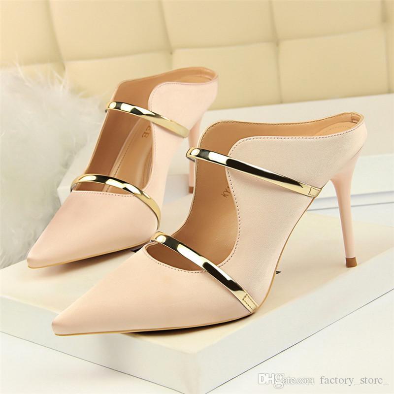 pumps damen schuhe damen stöckelschuhe schwarze fersen italienische schuhe damen designer mules schuhe damen fersen sexy high heels zapatos de mujer ayakkabi