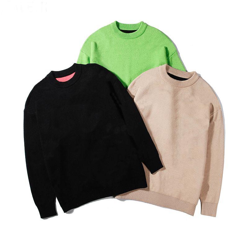 Moda casual para hombre famoso hombre de los suéteres de alta calidad Ronda de manga larga Suéteres Hombres Mujeres impresión de la letra sudaderas con capucha 3 colores
