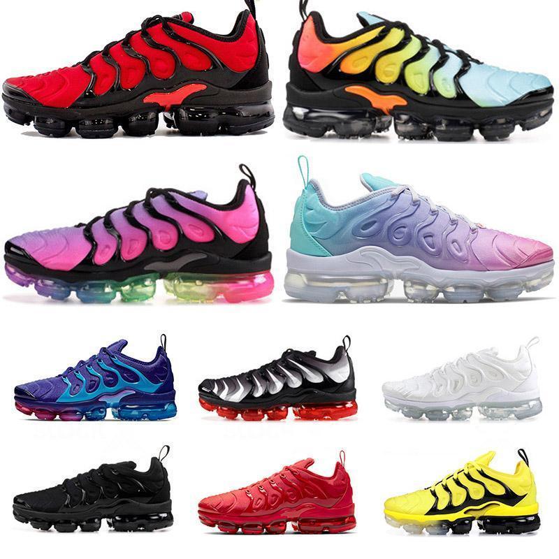 Commercio all'ingrosso 2020 TN più il formato US 13 delle donne degli uomini Scarpe da corsa tutto nero bianco smokey Malva Hornets velocità Sneakers Sport Trainers EUR 47
