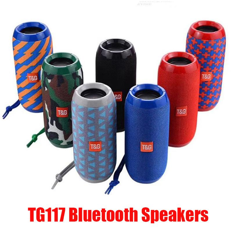 المتحدثون TG117 بلوتوث اللاسلكية المحمولة مزدوجة القرن 1200mAh بطارية البطارية في الهواء الطلق مكبر للصوت للماء المتحدثون دعم بطاقة TF راديو FM