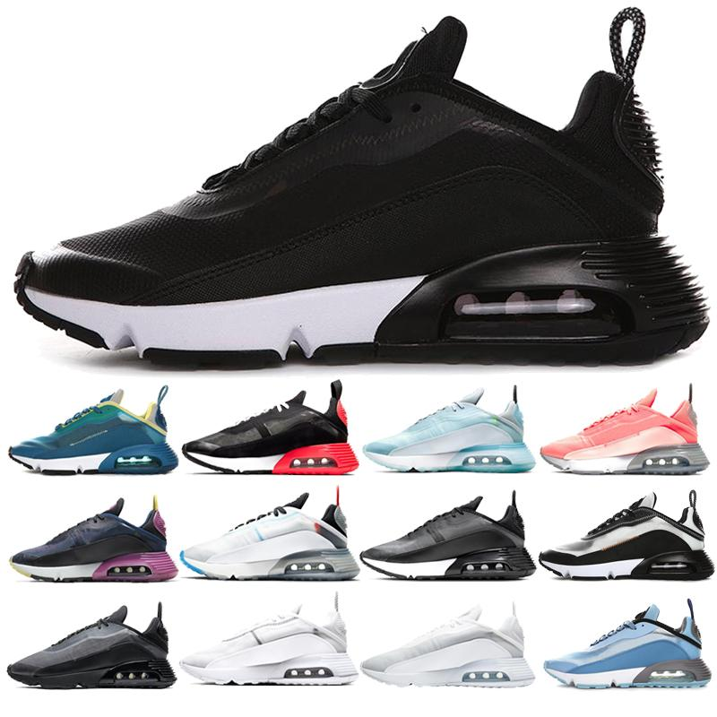 2020 الجديد 2090 الاحذية للرجال النساء الرجال المدربين النقي البلاتين انثراسايت أسود أبيض بطة كامو فوتون الغبار احذية رياضية