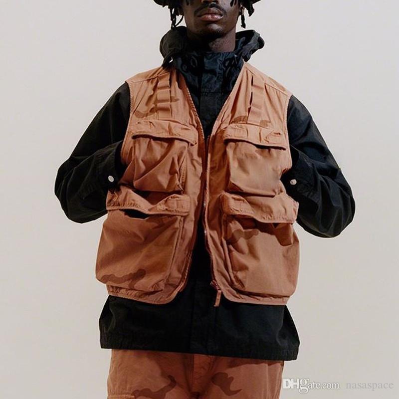 19SS камуфляж грузовой жилет тактическая одежда Горный открытый Мужчины Женщины высокое качество пальто улица повседневная спортивная верхняя одежда куртка размер S-XL