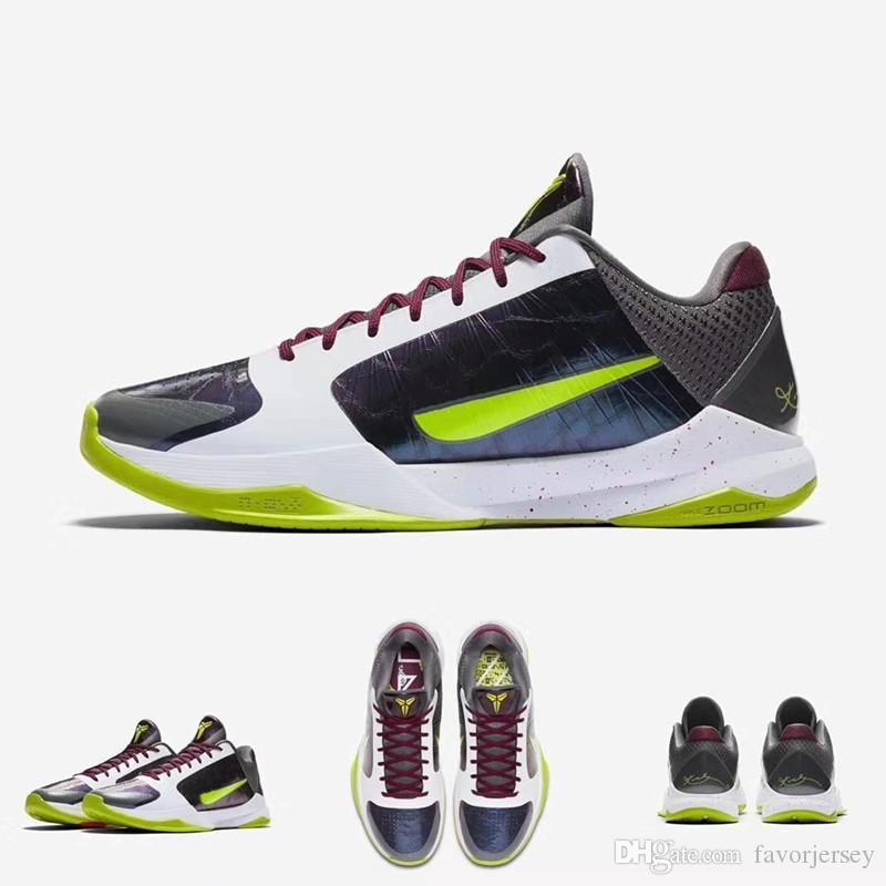 2020 New Arrival Zoom KB 5 Protro Chaos Purple White Green Luxury Basketball Shoes For Mens Weave Venom KB 5S EP Sports Sneakers