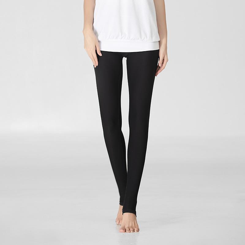 LU-2 pelle colorata pantaloni di yoga alto piede elastico Estate traspirante Yoga Pantaloni Donna dell'anca stretta esecuzione Solid pantaloni di colore Fitness leggings ragazze