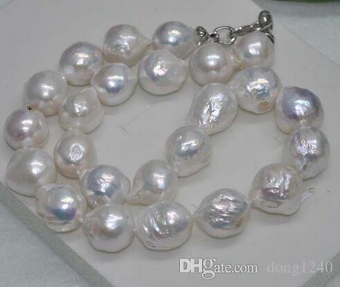 """11x13 MM REAL enorme mar del em barroco colarinho branco de perlas 18 """""""