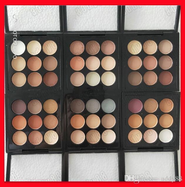 2019 Hot M Marca Maquiagem Dos Olhos Sombra de Olho X 9 Burgunday Vezes Nove Sombra 9 Cores Fosco paleta da sombra de olho Frete Grátis