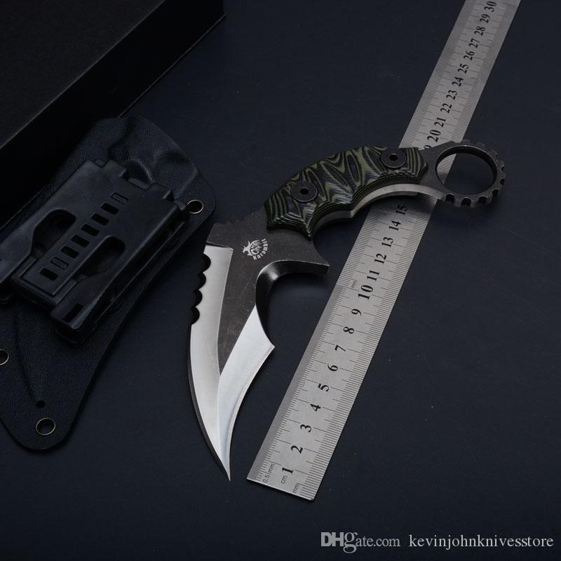 Karambit CS GO Counter Strike Knives D2 Coltello da sopravvivenza balde fisso Coltello da caccia tops equipaggiamento tattico affilato Strumenti da campeggio