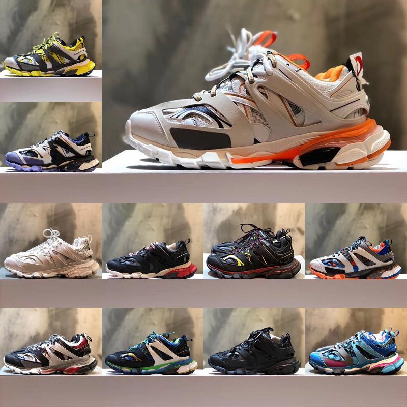 Женские дизайнерские мужские кроссовки Triple S 3.0 роскошные платформы для бега Повседневная обувь des chaussures Trainers высокое качество с коробкой размер 36-45