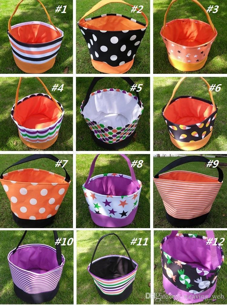Halloween benna Confezioni regalo Bambina Bambino Bambino Candy Collection Borse Halloween borsa Spirit Festival Supplies cestino di immagazzinaggio del partito