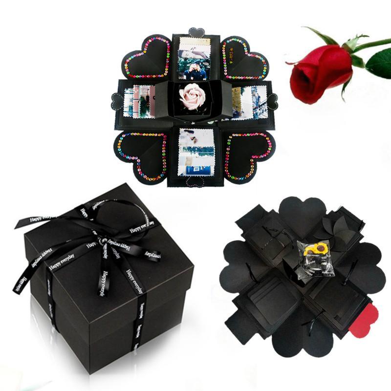 Gift Box Handmade DIY Surpresa, Amor Explosão Explosão Gift Box presentes aniversário Scrapbook DIY foto do aniversário
