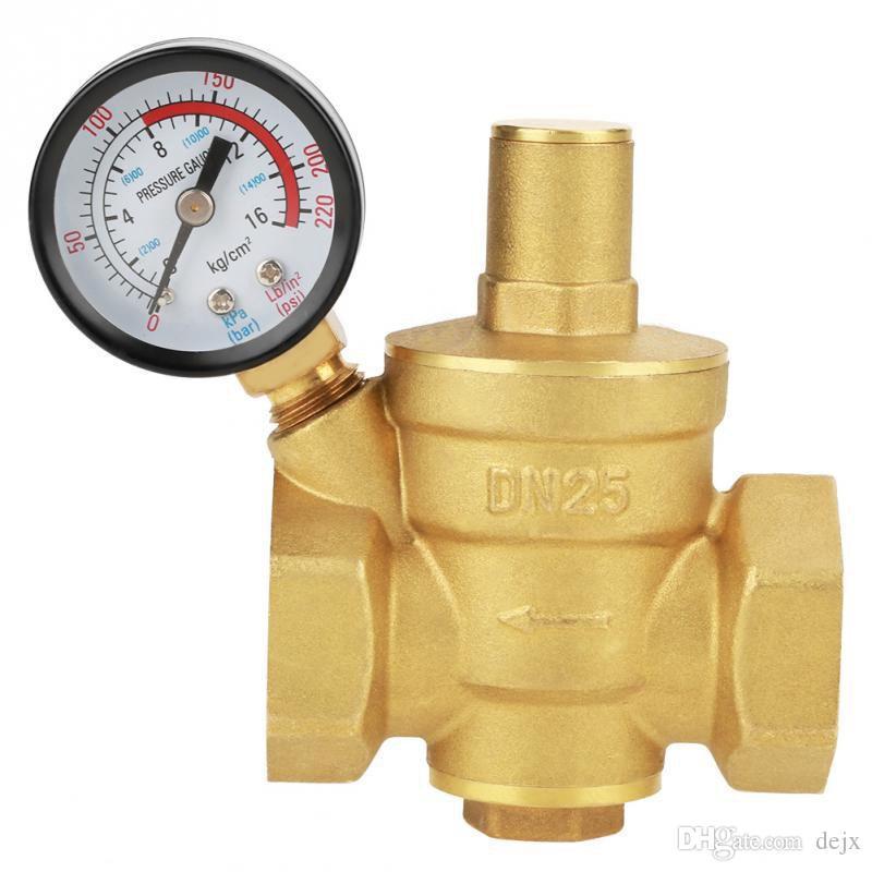 Freeshipping Dn25 Pressure Reducer Adjustable Water Pressure Reducing Regulator Reducer+Gauge Meter